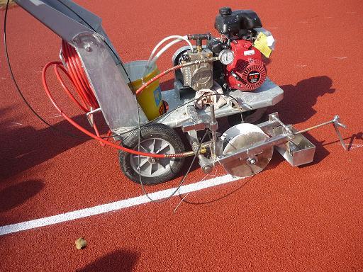 Line Marking Machine for Plastic Track